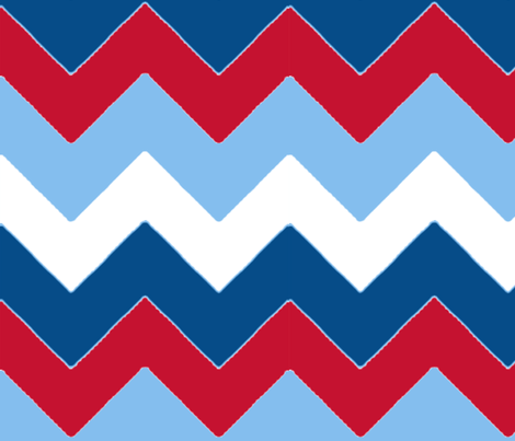 chevron_bleu_rouge_L fabric by nadja_petremand on Spoonflower - custom fabric