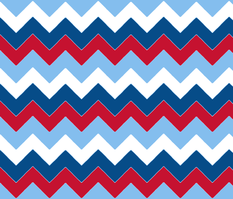 chevron_bleu_rouge_M fabric by nadja_petremand on Spoonflower - custom fabric