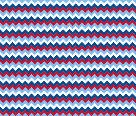 chevron_bleu_rouge_S fabric by nadja_petremand on Spoonflower - custom fabric