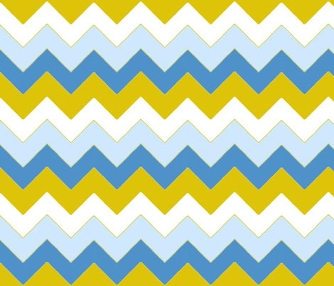 chevron_bleu_v_M fabric by nadja_petremand on Spoonflower - custom fabric