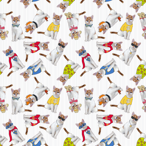 Kookie Kittens fabric by dianne_annelli on Spoonflower - custom fabric