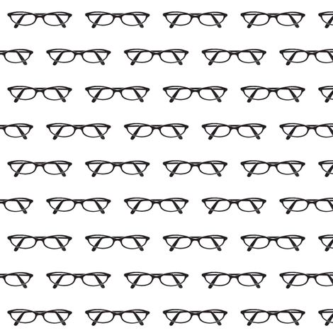 Cat eye glasses fabric by mezzime on Spoonflower - custom fabric