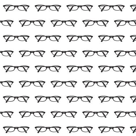 Cat eye glasses fabric by mezzime on Spoonflower - custom fabric