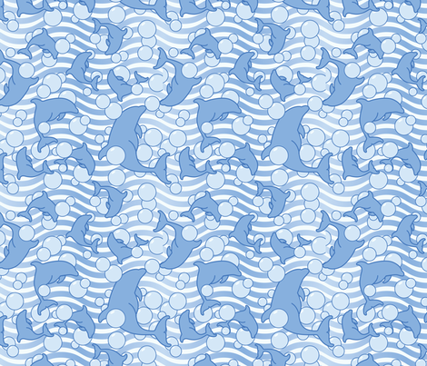 So long, and thanks for all the fish! fabric by studiofibonacci on Spoonflower - custom fabric