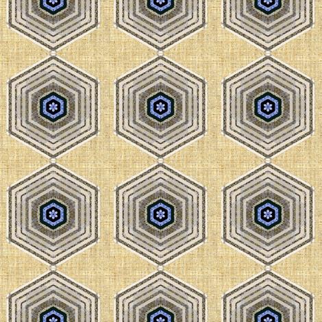 Hexagon linen fabric by joanmclemore on Spoonflower - custom fabric