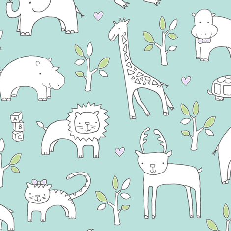 Safari Baby!  fabric by pattyryboltdesigns on Spoonflower - custom fabric