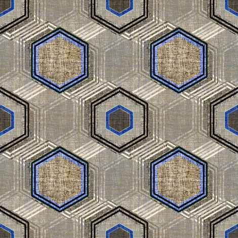 Reverb Hexagon on Steel in gray and blue