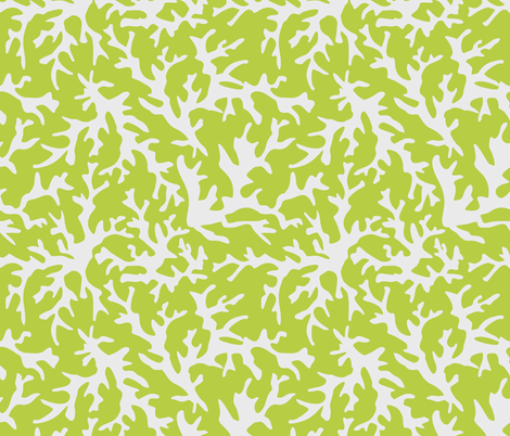 Coral Reef in Lime fabric by alainasdesigns on Spoonflower - custom fabric