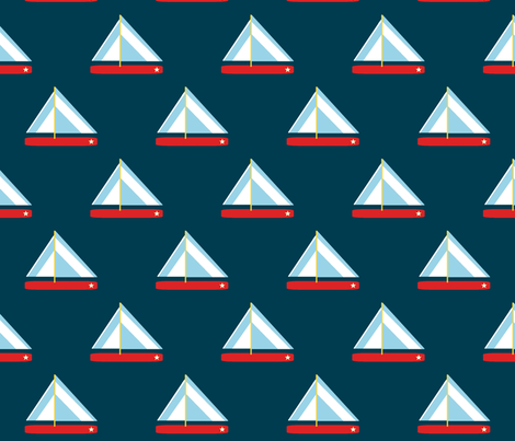 sailing fabric by synamin on Spoonflower - custom fabric