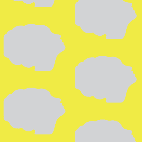 Beehive silhouette in yellow fabric by mezzime on Spoonflower - custom fabric