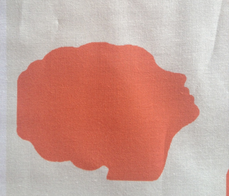 Beehive silhouette in orange