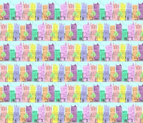 city life in color fabric by krs_expressions on Spoonflower - custom fabric