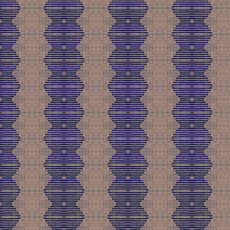 Brancusi's Lover - blue, mauve fabric by materialsgirl on Spoonflower - custom fabric