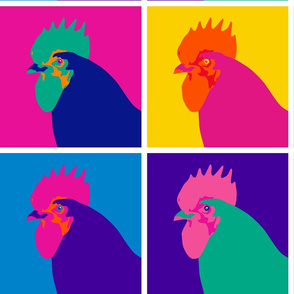 Chicken Pop Art - Warhol Style