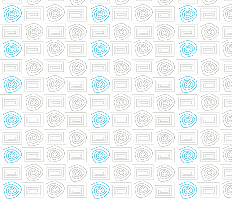 spiral_circ_sq grey aqua fabric by vos_designs on Spoonflower - custom fabric