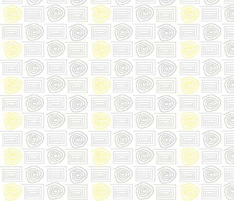 spiral_circ_sq grey yellow fabric by vos_designs on Spoonflower - custom fabric