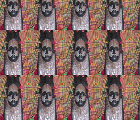 Ebony_Mask_001-ed-ed fabric by quiltabulous on Spoonflower - custom fabric