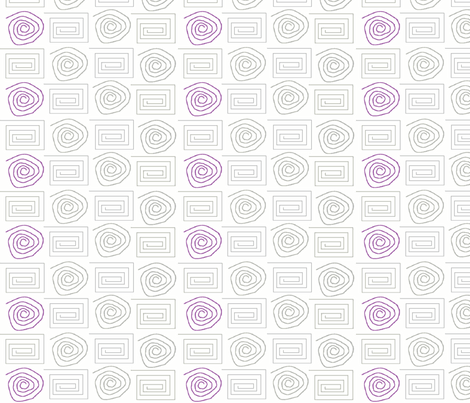 spiral_circ_sq grey lavender fabric by vos_designs on Spoonflower - custom fabric