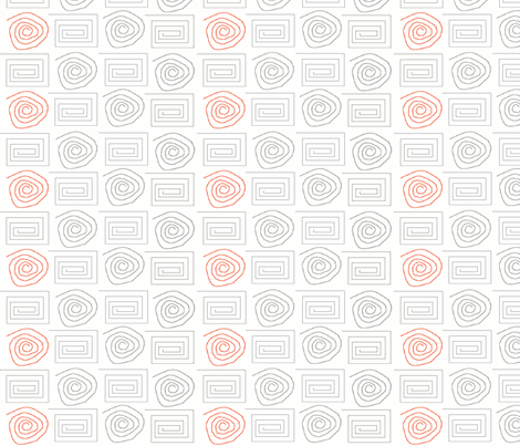 spiral_circ_sq grey salmon fabric by vos_designs on Spoonflower - custom fabric