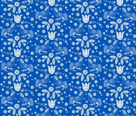 barnyard toile blue
