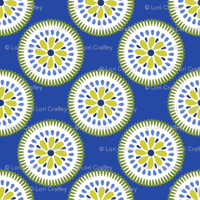 Sunburst Flower Blue