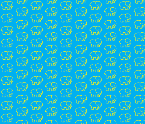 blue_elephants fabric by adrianne_nicole on Spoonflower - custom fabric