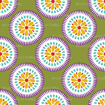 Sunburst Flower Lime