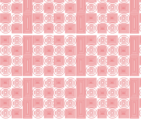 color me red spirals fabric by dsa_designs on Spoonflower - custom fabric