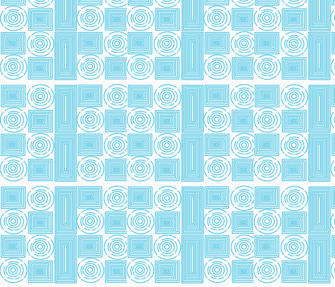 color me aqua spirals fabric by vos_designs on Spoonflower - custom fabric