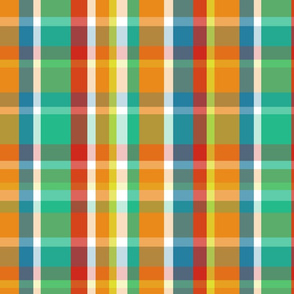 Madras Plaid Tangerine