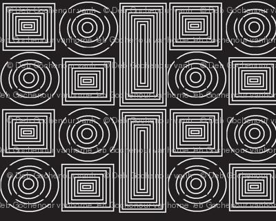 color me whiteonblack spirals