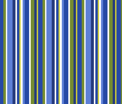 Clean Summer Stripe Blue fabric by littlerhodydesign on Spoonflower - custom fabric