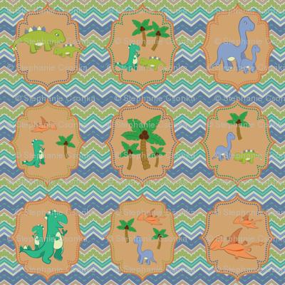 Baby Dinosaur Chevrons