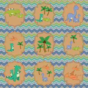 Baby Dinosaur Chevrons