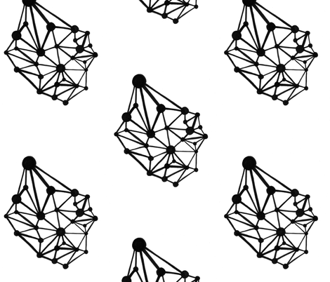 network fabric by kcs on Spoonflower - custom fabric