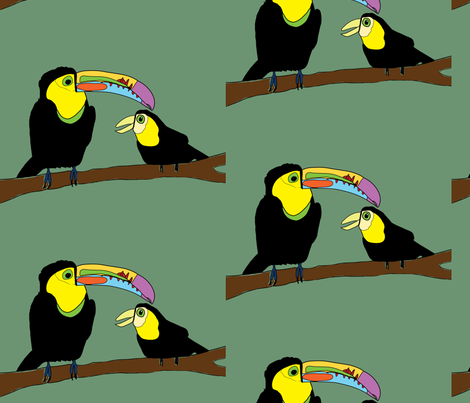 Keel Billed Toucans fabric by heartfullofbirds on Spoonflower - custom fabric