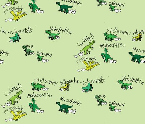 Baby Dinos fabric by iliketodraw on Spoonflower - custom fabric