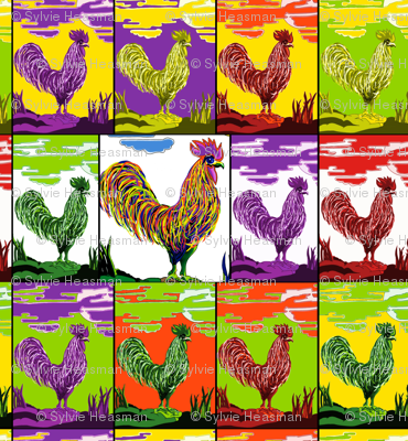 Cockerel Medley by Sylvie