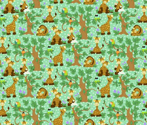 Baby Giraffes fabric by beebumble on Spoonflower - custom fabric