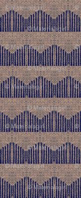 linear peaks - blue & mauve