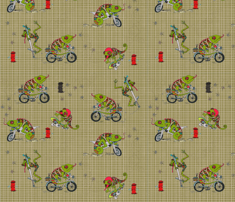 Baby Animals Fun snack Time fabric by lizartelier on Spoonflower - custom fabric
