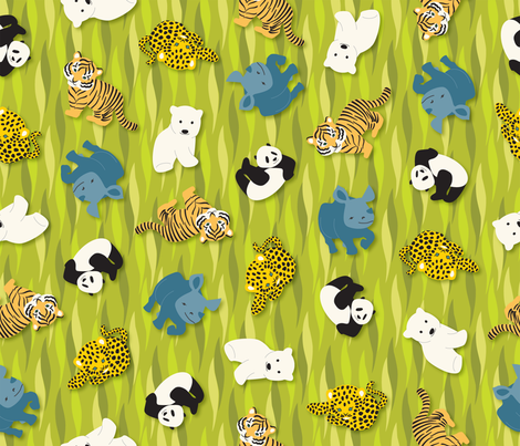 Endangered_Babies fabric by wendy_lin on Spoonflower - custom fabric
