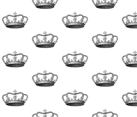 Crown I fabric by walkwithmagistudio on Spoonflower - custom fabric