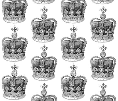Crown II fabric by walkwithmagistudio on Spoonflower - custom fabric