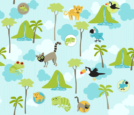 RAINFOREST BABIES fabric by bzbdesigner on Spoonflower - custom fabric