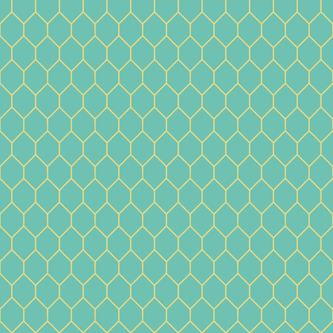 Trellis in turquoise and gold