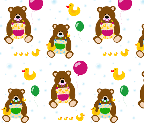 Baby bears fabric by pocu on Spoonflower - custom fabric