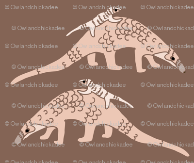 Pangolins in Pink
