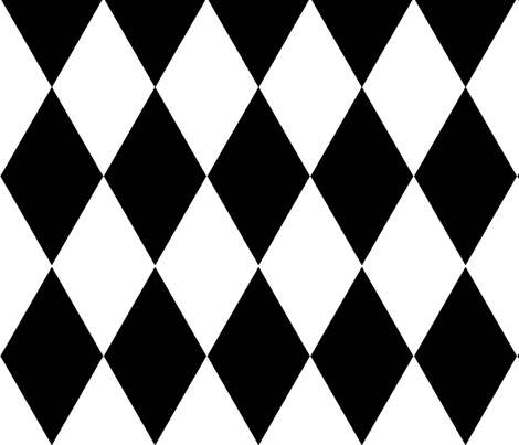 harlequin / black and white fabric by paragonstudios on Spoonflower - custom fabric