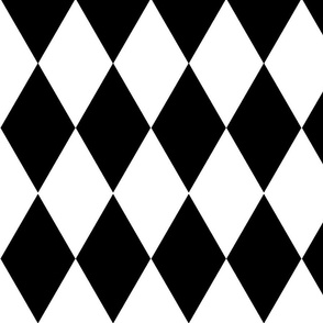 harlequin / black and white